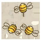 Dibujo de abejas